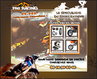Pro Racing Services, page web