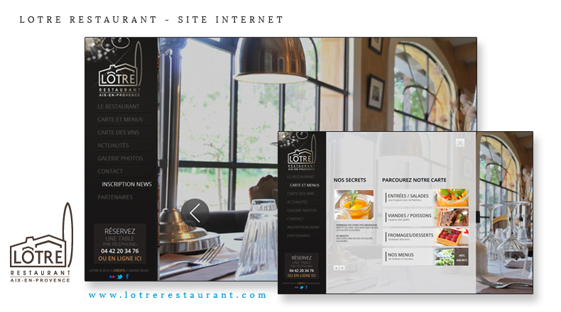 lotre restaurant site internet